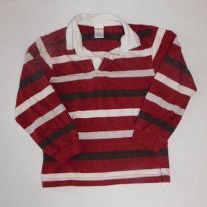 Boys Shirt Size 5 Polo Long Sleeve